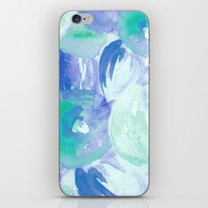 Turquoise Florals iPhone & iPod Skin