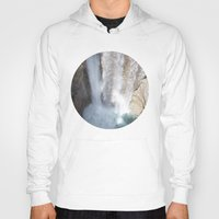 allyson johnson Hoodies featuring Johnson Canyon Waterfall by RMK Photography