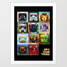 App Icon Wars Collected Works Art Print