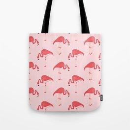 Flamingo Watercolor Pattern Tote Bag