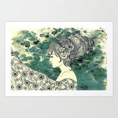 hive of hair Art Print