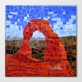 Delicate Arch - Arches National Park Utah - Stained Glass Mosaic Canvas Print
