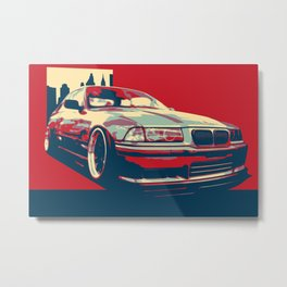 Bimmer E36-ART Metal Print