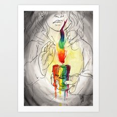 Keep being Proud. Art Print