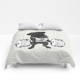 Black Pug Lift Comforters