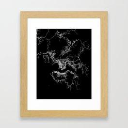 Hong Kong map Framed Art Print