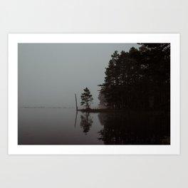 Scottish foggy morning Art Print