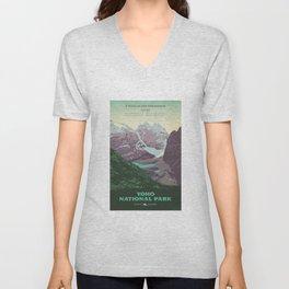 Yoho National Park Poster Unisex V-Neck