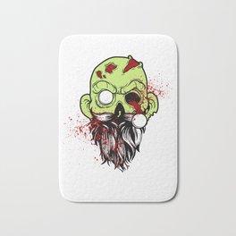 Bearded Zombie Undead with Beard Halloween Party Light Bath Mat