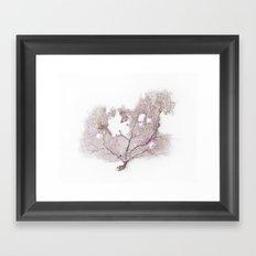 CORAL FAN Framed Art Print