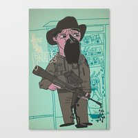 police Canvas Prints featuring le police by liquidpig