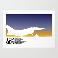 top gun Art Prints featuring Top Gun by booj