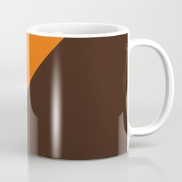 Brown & Orange Retro Stripe Coffee Mug