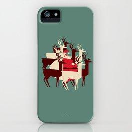 Deer Santa iPhone Case
