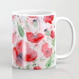 Expressive poppies || watercolor floral design Coffee Mug