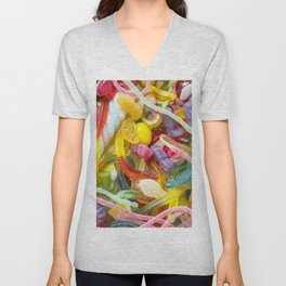 Colorful Candy Unisex V-Neck