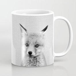 Baby Fox - Black & White Coffee Mug