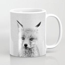 Baby Fox - Black & White Coffee Mug