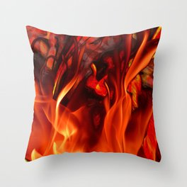Roaring Red Throw Pillow