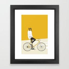 The Yellow Bike Framed Art Print