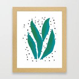 Tropical Leaves 1 Framed Art Print