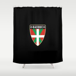 Basque Country Shield Shower Curtain