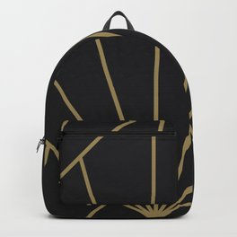Diamond Series Sun Burst Gold on Charcoal Backpack
