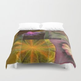 Referenced Tissue Flowers  ID:16165-142303-03261 Duvet Cover