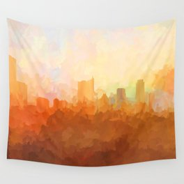 Austin, Texas Skyline - In the Clouds Wall Tapestry