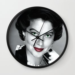 Ava Gardner Portrait #1 Wall Clock