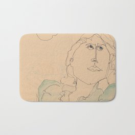 self portrait 1985 Bath Mat