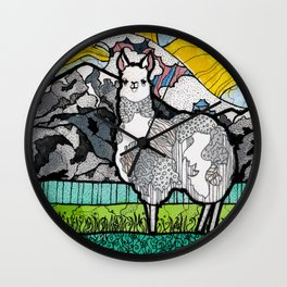 Llama and Andes Wall Clock