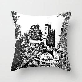 Duomo of Barga Throw Pillow