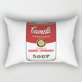 Camell's Soup CREAM OF NORDIC COMBINED Pop Art Rectangular Pillow