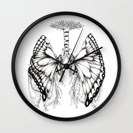 Butterfly Lungs Wall Clock