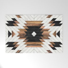 Urban Tribal Pattern No.5 - Aztec - Concrete and Wood Welcome Mat