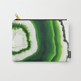 Green kiwi Agate slice Carry-All Pouch