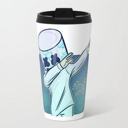 marshmello photo vectorized Travel Mug
