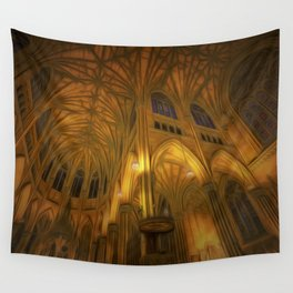 Cathedral Golden Light Wall Tapestry