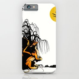 The dragon looks up to the sky lao ce iPhone Case