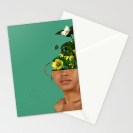 Lady Flowers VII Stationery Cards