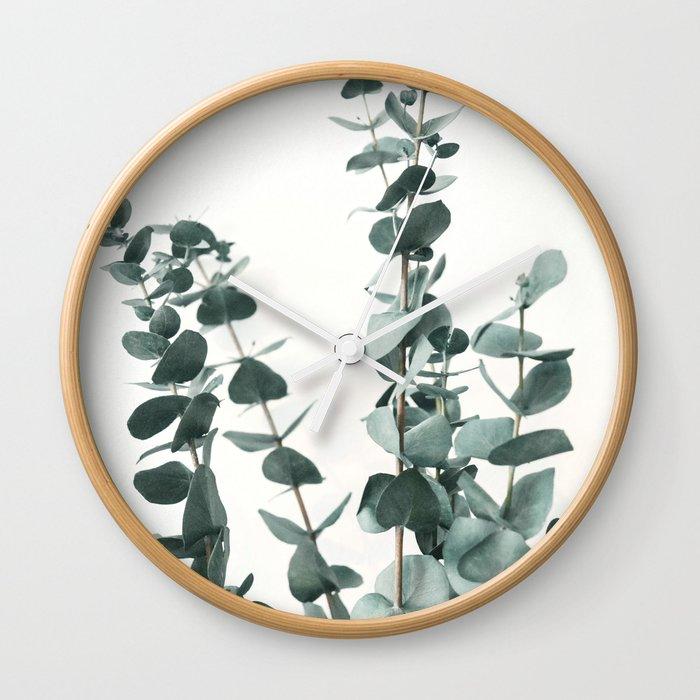 Eucalyptus Leaves Wall Clock