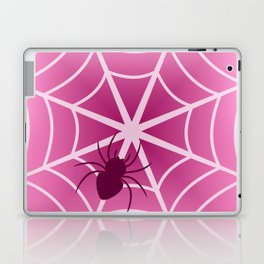 Spider web in pink Laptop & iPad Skin