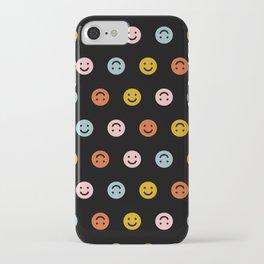 Smiley - Black Multi iPhone Case