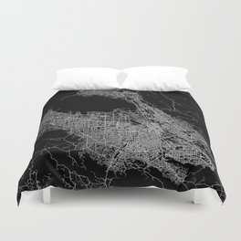 san jose map Duvet Cover