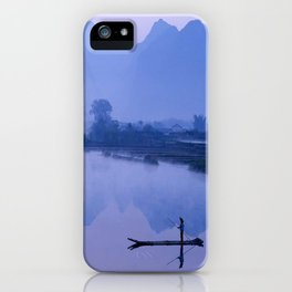 LI RIVER AT DAWN-GUILIN CHINA iPhone Case