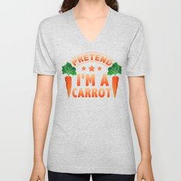 Eat Me Funny Bunny Lover Pretend I'm a Carrot Unisex V-Neck