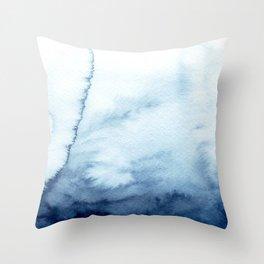 indigo shibori 07 Throw Pillow