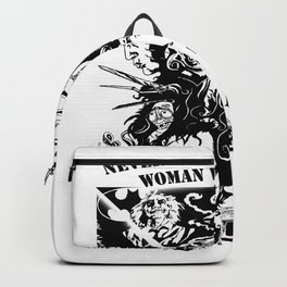 Never Underestimate, a Woman, who Loves, Tim Burton Movies, and was Born in December Backpack