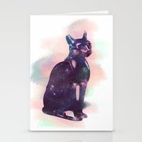 egyptian Stationery Cards featuring Egyptian cat  by Vita♥G